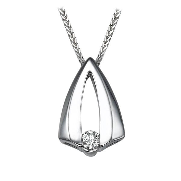Picture of 0.17 Total Carat Solitaire Round Diamond Pendant
