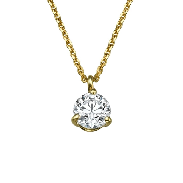 Picture of 0.23 Total Carat Solitaire Round Diamond Pendant