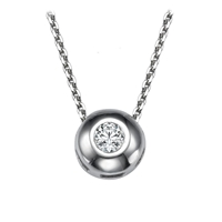 Picture of 0.12 Total Carat Solitaire Round Diamond Pendant