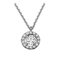 Picture of 0.17 Total Carat Halo Round Diamond Pendant