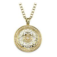 Picture of 0.47 Total Carat Designer Round Diamond Pendant