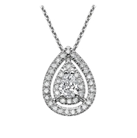Picture of 0.87 Total Carat Halo Pear Diamond Pendant