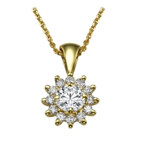 Picture of 0.64 Total Carat Halo Round Diamond Pendant
