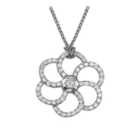 Picture of 0.71 Total Carat Designer Round Diamond Pendant