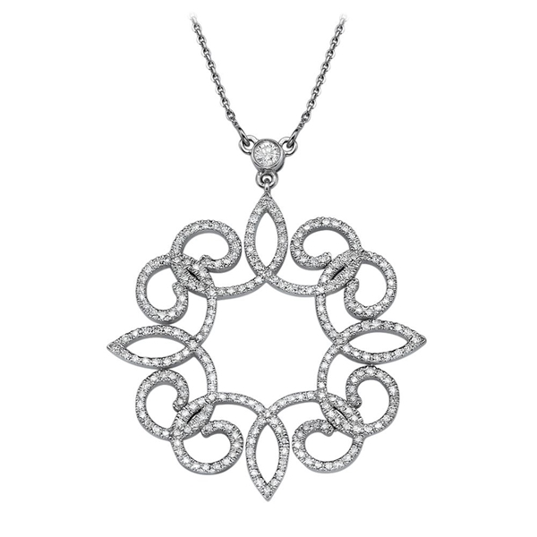 Picture of 1.29 Total Carat Designer Round Diamond Pendant