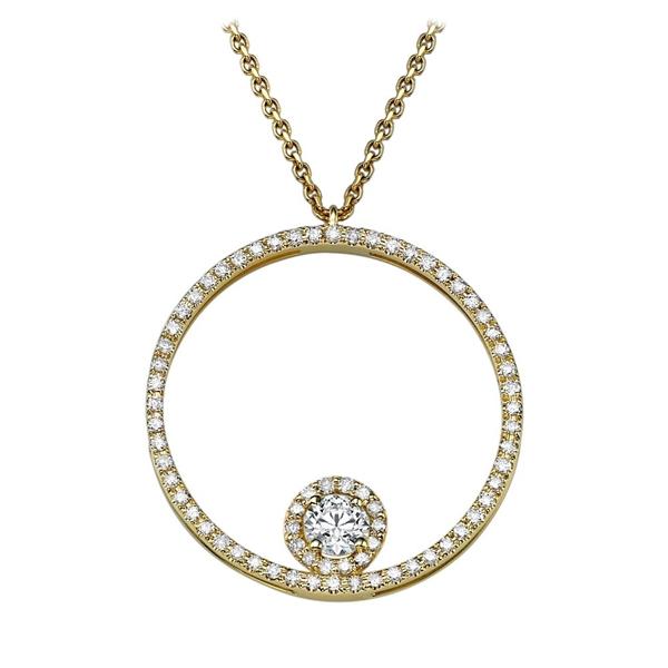 Picture of 0.45 Total Carat Classic Round Diamond Pendant