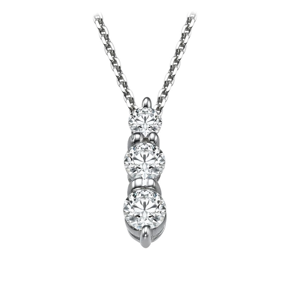 Picture of 0.40 Total Carat Three Stone Round Diamond Pendant