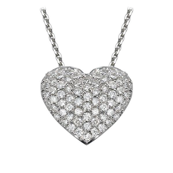 Bild von 0.57 Gesamtkarat Herz-Halsketten mit Runddiamant