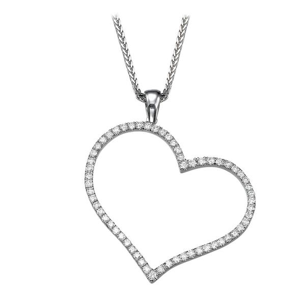 Picture of 0.80 Total Carat Heart Round Diamond Pendant