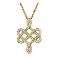 Picture of 0.62 Total Carat Designer Round Diamond Pendant