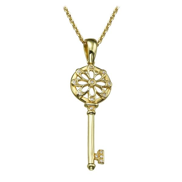 Bild von 0.07 Gesamtkarat Klassisch-Halsketten mit Runddiamant