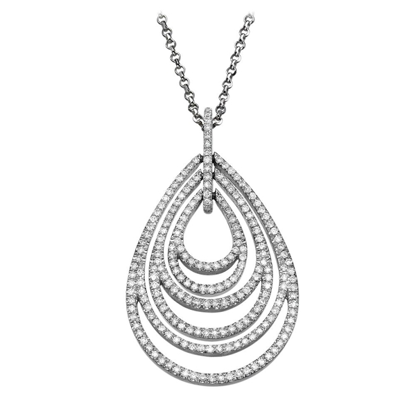 Picture of 1.10 Total Carat Designer Round Diamond Pendant