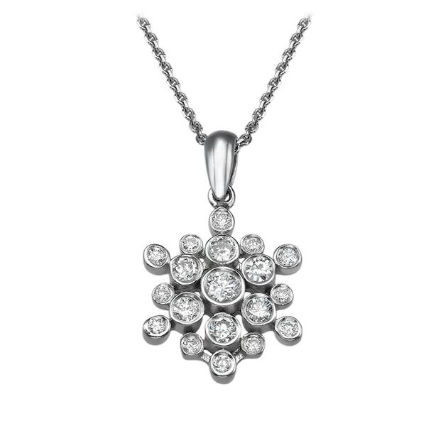 Picture of 0.45 Total Carat Designer Round Diamond Pendant