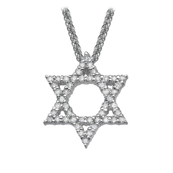 Picture of 0.29 Total Carat Star of David Round Diamond Pendant