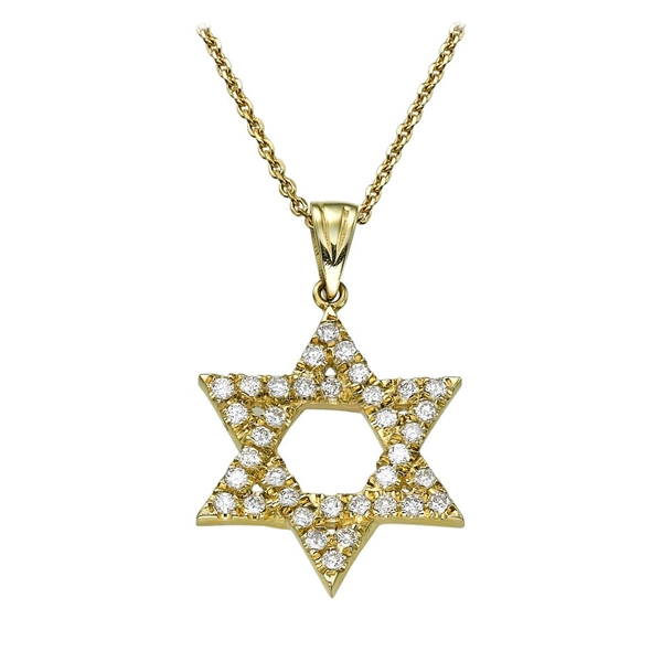 Picture of 0.36 Total Carat Star of David Round Diamond Pendant