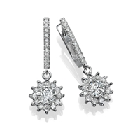Picture of 2.46 Total Carat Drop Round Diamond Earrings