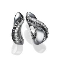 Picture of 0.56 Total Carat Hoop Round Diamond Earrings