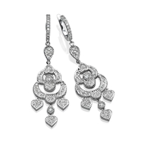 Picture of 1.05 Total Carat Drop Round Diamond Earrings