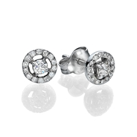 Picture of 0.36 Total Carat Stud Round Diamond Earrings