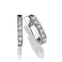 Picture of 0.50 Total Carat Hoop Round Diamond Earrings