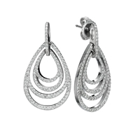 Picture of 1.15 Total Carat Drop Round Diamond Earrings