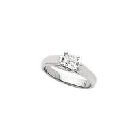 Bild von 0.50 Gesamtkarat Solitär-Verlobungsring mit Princessdiamant