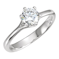 Picture of 0.75 Total Carat Solitaire Engagement Round Diamond Ring