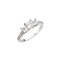 Picture of 0.75 Total Carat Three Stone Engagement Princess Diamond Ring