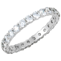 Picture of 1.25 Total Carat Eternity Wedding Round Diamond Ring