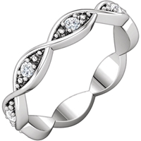 Picture of 0.17 Total Carat Eternity Wedding Round Diamond Ring
