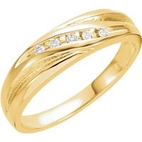 Picture of 0.10 Total Carat Designer Wedding Round Diamond Ring