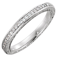 Picture of 0.25 Total Carat Eternity Wedding Round Diamond Ring