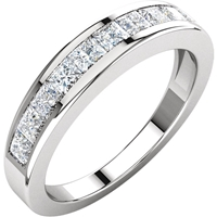Picture of 1.00 Total Carat Anniversary Wedding Princess Diamond Ring