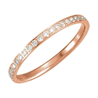 Picture of 0.38 Total Carat Eternity Wedding Round Diamond Ring