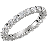 Picture of 1.50 Total Carat Eternity Wedding Round Diamond Ring