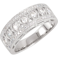 Picture of 0.50 Total Carat Anniversary Wedding Round Diamond Ring