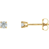 Picture of 0.25 Total Carat Stud Round Diamond Earrings