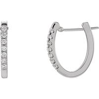Picture of 0.20 Total Carat Hoop Round Diamond Earrings