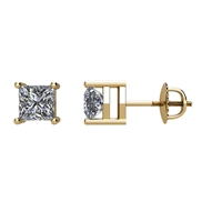 Picture of 0.50 Total Carat Stud Princess Diamond Earrings