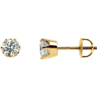 Picture of 1.00 Total Carat Stud Round Diamond Earrings
