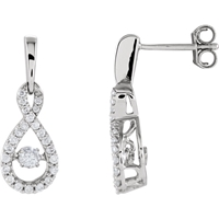 Picture of 0.38 Total Carat Designer Round Diamond Earrings
