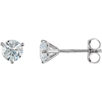 Picture of 0.75 Total Carat Stud Round Diamond Earrings