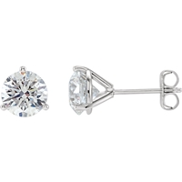 Picture of 1.50 Total Carat Stud Round Diamond Earrings