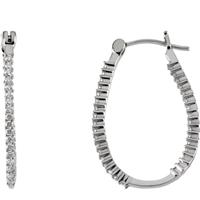 Bild von 0.50 Gesamtkarat Reif-Ohrringe mit Runddiamant