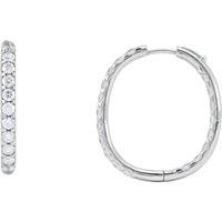 Picture of 3.00 Total Carat Hoop Round Diamond Earrings
