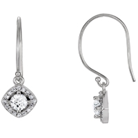Picture of 0.63 Total Carat Halo Round Diamond Earrings