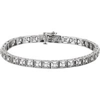 Bild von 0.51 Gesamtkarat Tennis-Diamantarmbänder mit Runddiamant