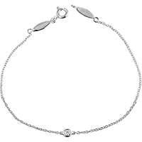 Picture of 0.08 Total Carat Solitaire Round Diamond Bracelet