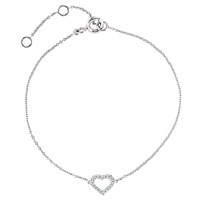 Picture of 0.06 Total Carat Heart Round Diamond Bracelet