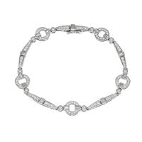 Picture of 1.63 Total Carat Designer Round Diamond Bracelet